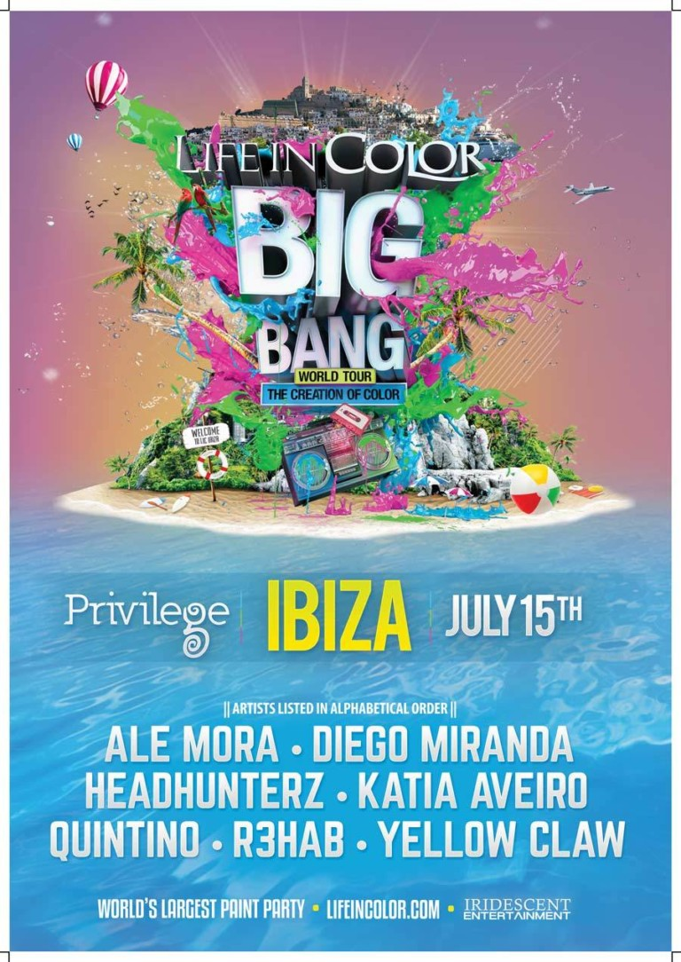 Color your Wednesday with Life in Color at Privilege Ibiza