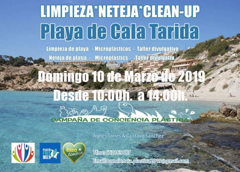 Limpieza en Cala Tarida este domingo