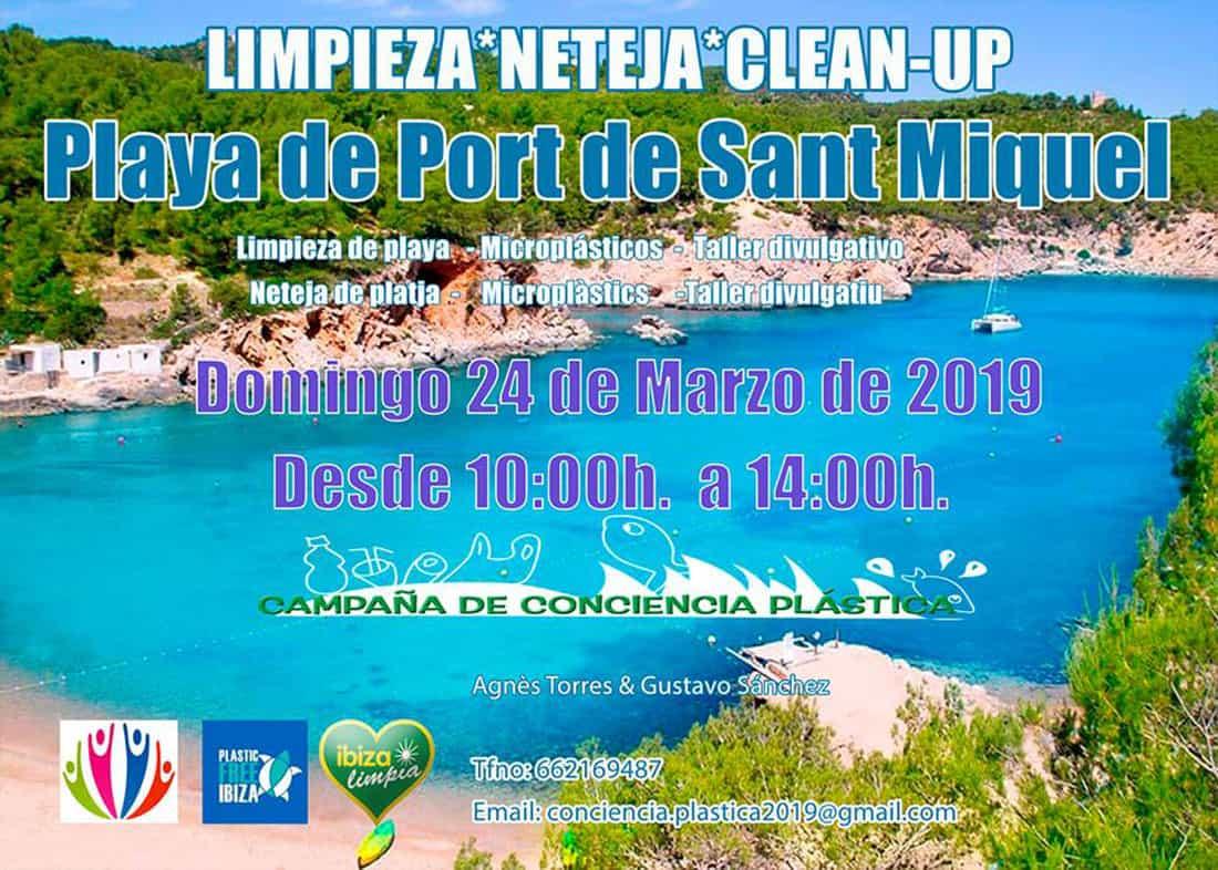 Nettoyage de la plage de Puerto de San Miguel