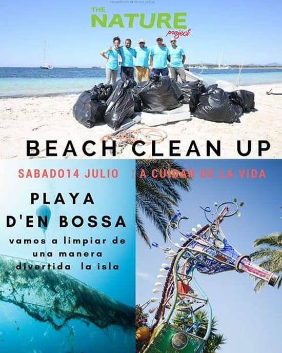 The Nature Project organizes a cleaning in Playa d'en Bossa