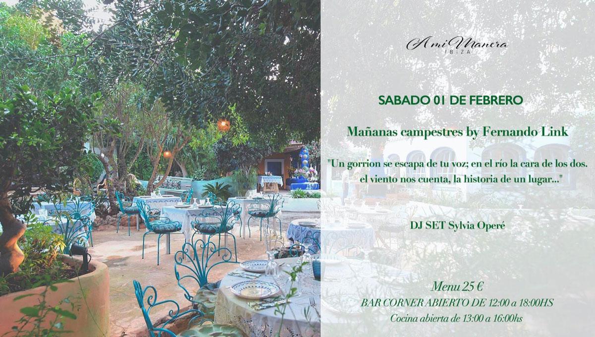 Новая встреча с Campestres Mornings от Фернандо Линк в A Mi Manera Ibiza