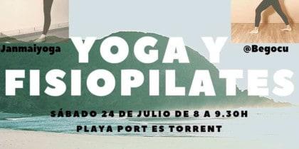 Yoga und Physiopilates vereint in einer anregenden Masterclass am Strand Sport