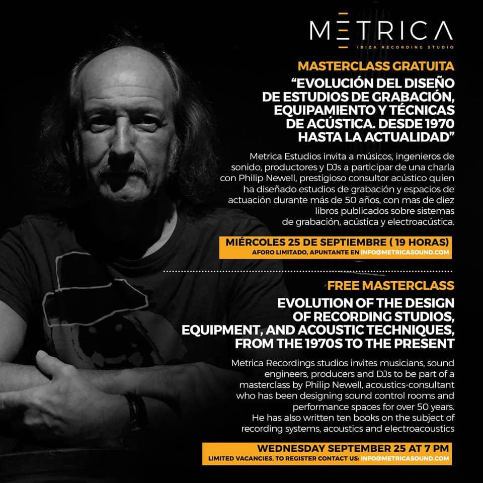 Free masterclass with Philip Newell of Metrica Studio Ibiza
