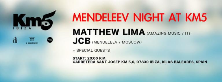 Mendeleev Night en Km5 Ibiza