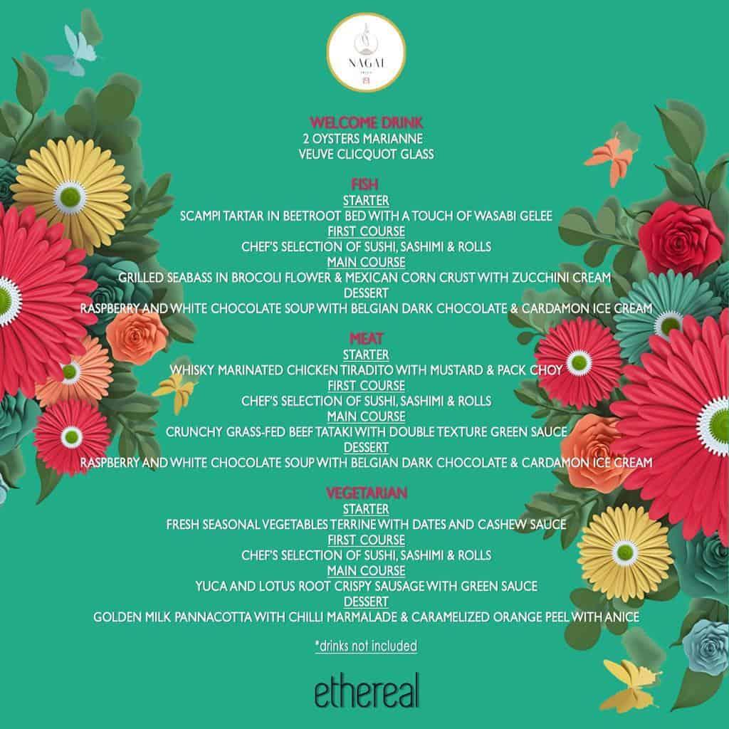 menu festa ethereal nagai Eivissa
