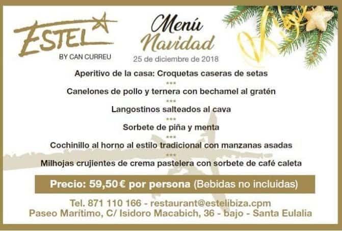Рождественское и новогоднее меню на Ибице: Estel Restaurant