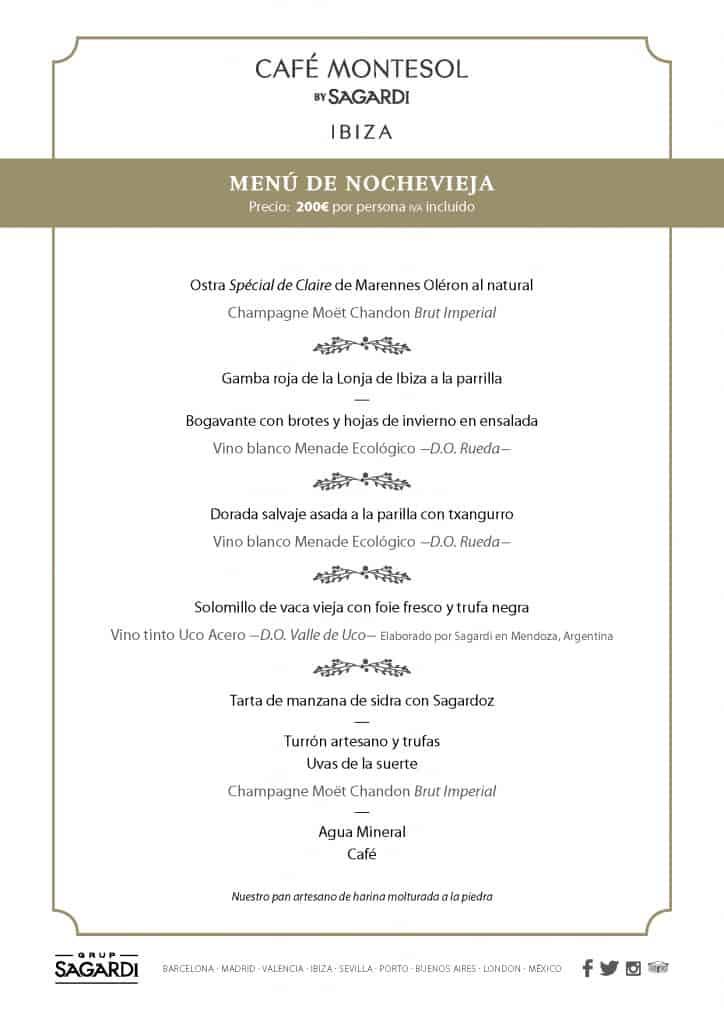 Новогоднее меню на Ибице: кафе Montesol Ibiza от Sagardi