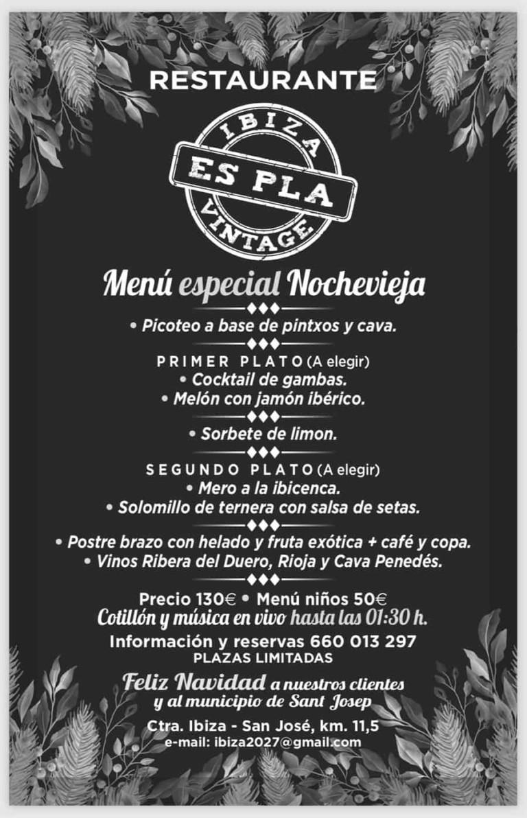 Новогоднее меню на Ибице: ресторан Es Pla