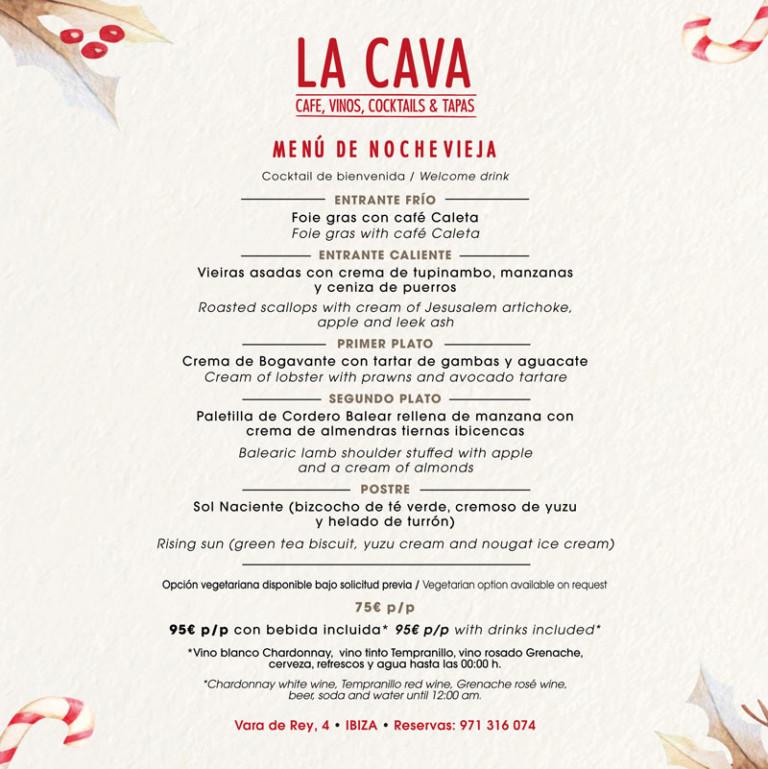 Новогоднее меню на Ибице: ресторан La Cava