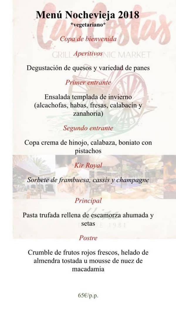 Новогоднее меню на Ибице: ресторан Cas Costas