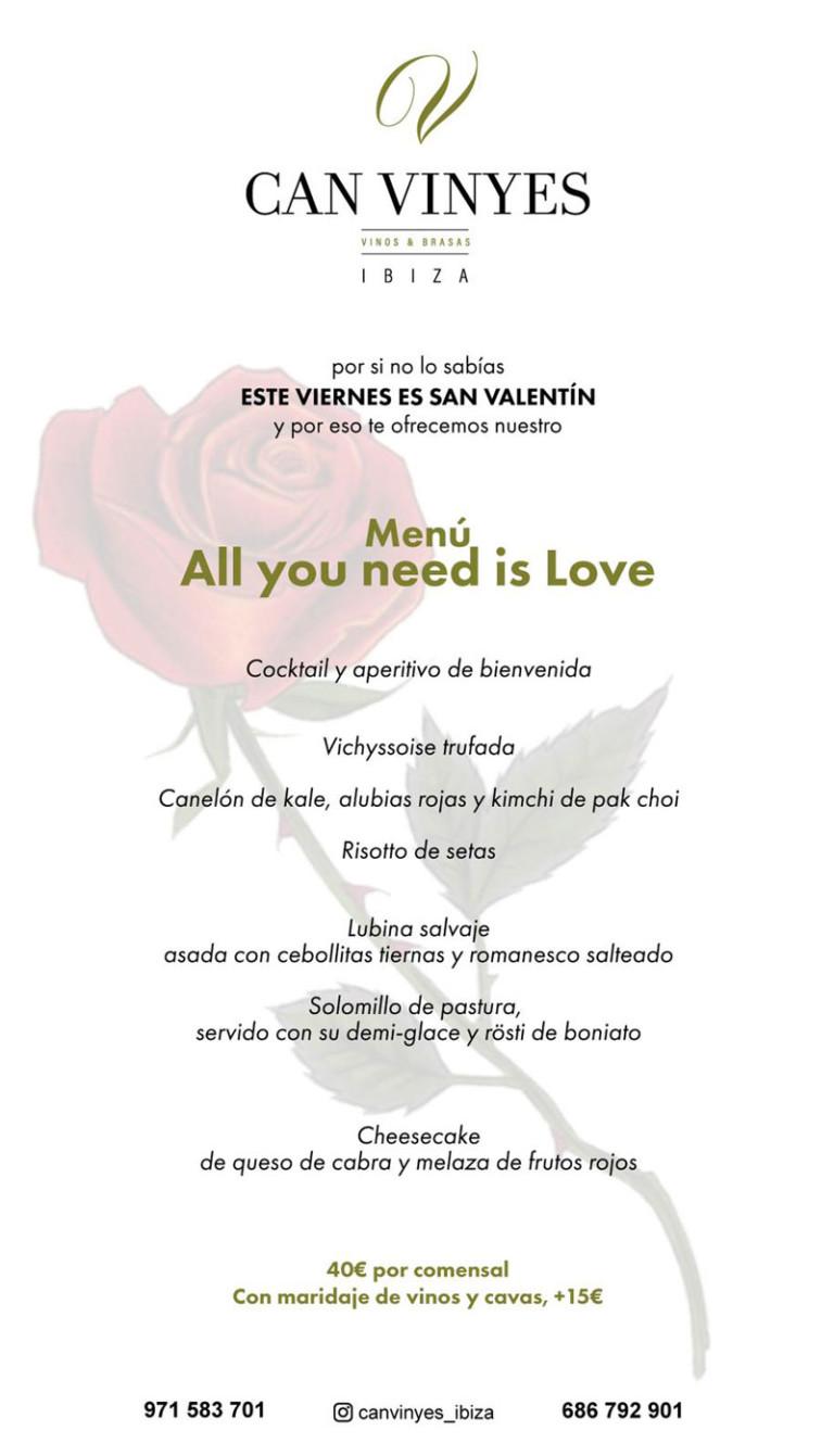 Незабываемый валентинский ужин в Can Vinyes Ibiza