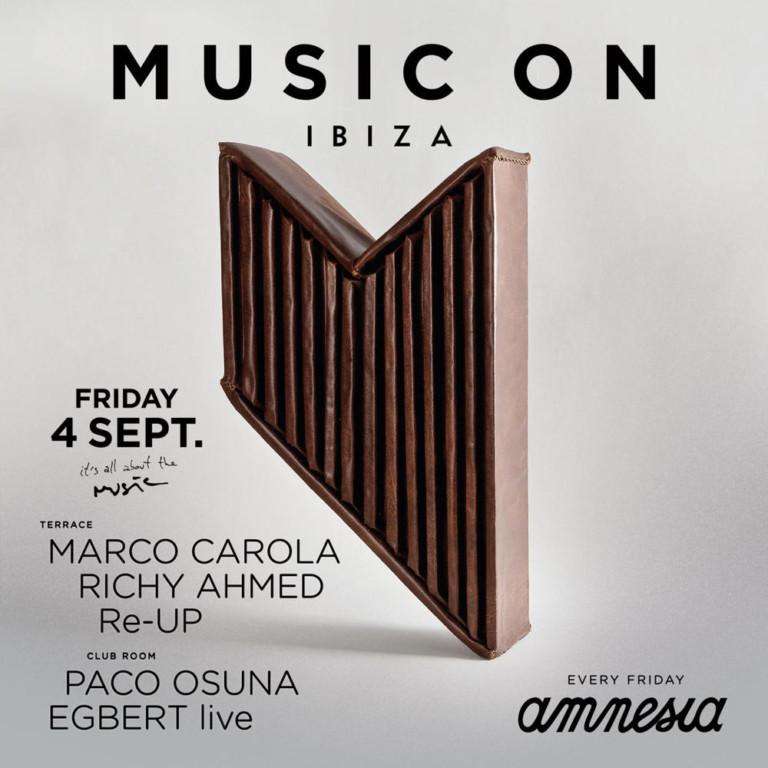 Viernes de infarto en Music On en Amnesia Ibiza - 04/09/2015