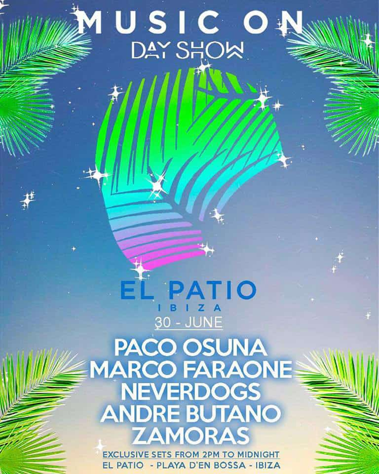Closing Party of Music On Day Show at El Patio Bora Bora Ibiza