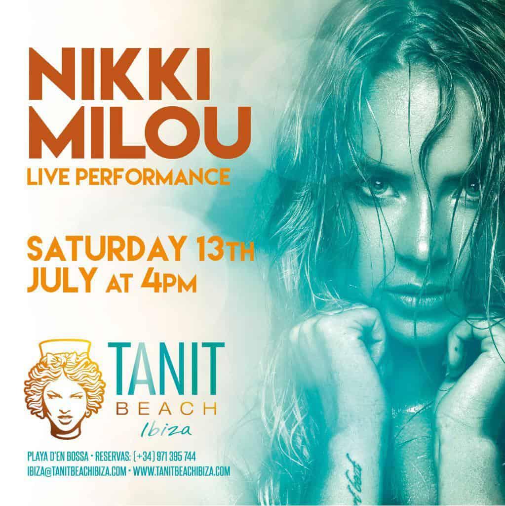 La voix élégante de Nikki Milou à Tanit Beach Ibiza
