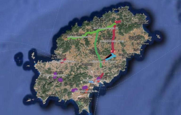 Cortes eines Monats auf dem Weg von Ibiza nach San Juan