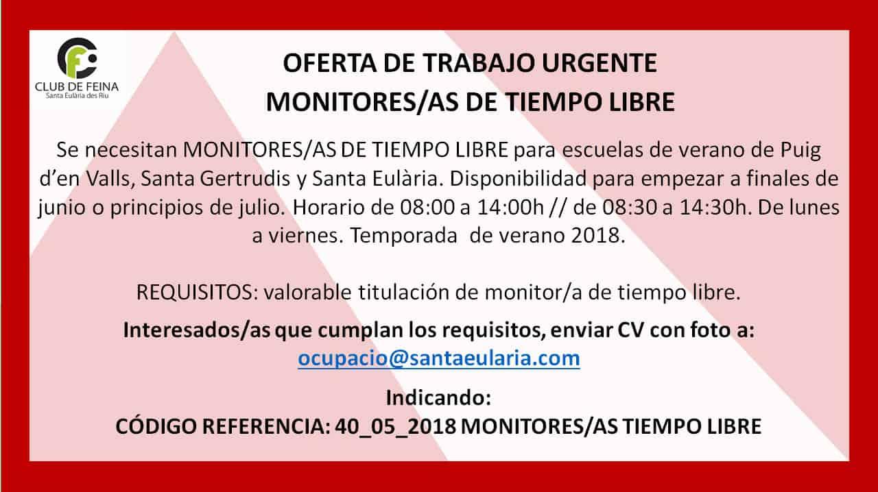 Работа на Ibiza 2018: ищут мониторы свободного времени