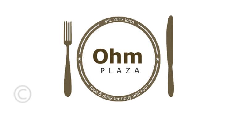 ohm-plaza-bar-restaurant-santa-eulalia-logo-guia-welcometoibiza-2019