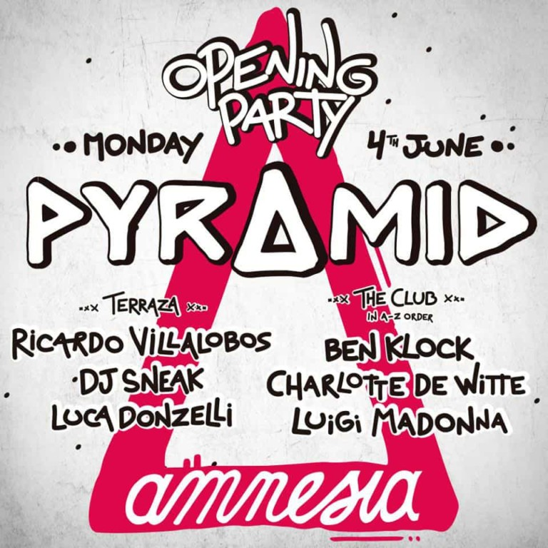 Apertura di Pyramid in Amnesia Ibiza