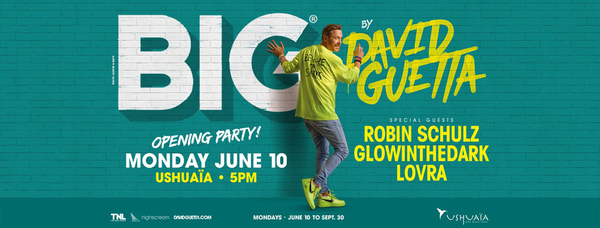 Opening of Big by David Guetta in Ushuaïa Ibiza