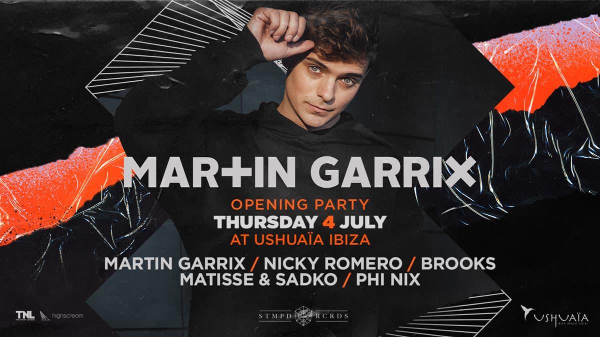Eröffnung von Martin Garrix in Ushuaïa Ibiza