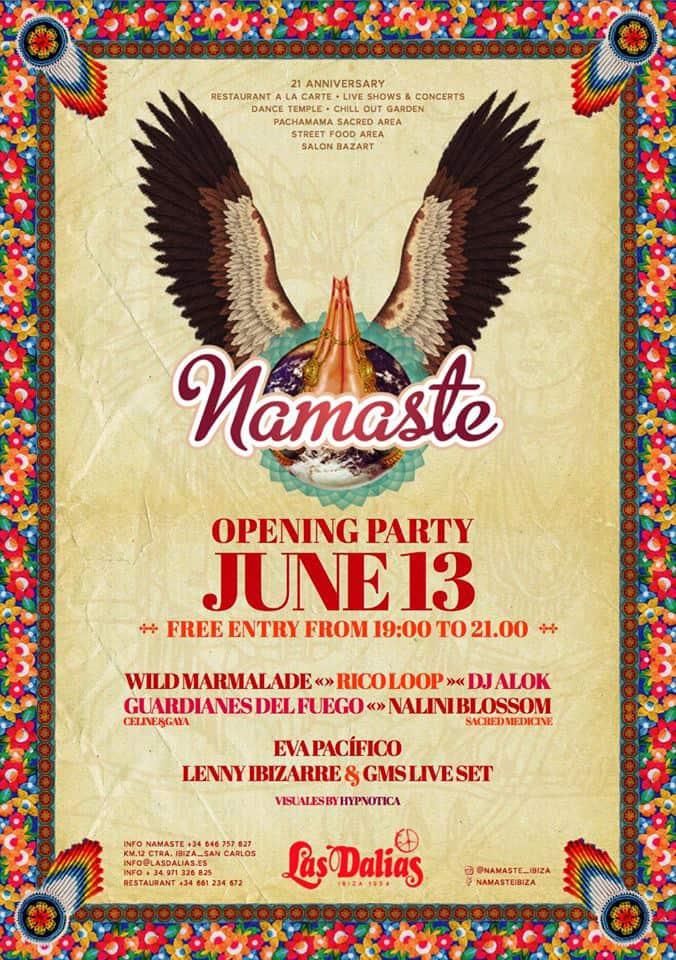 Apertura di Namaste a Las Dalias Ibiza
