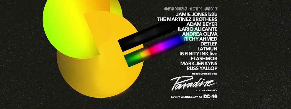 Opening de Paradise de Jamie Jones en DC10 Ibiza