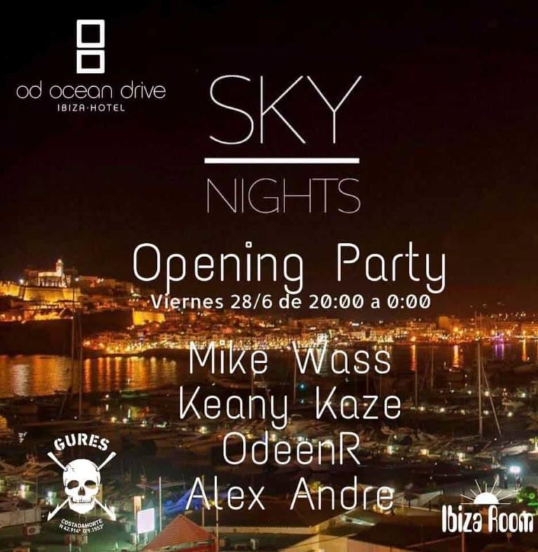 Soirée d'ouverture du ciel les nuits d'OD Ocean Drive Ibiza