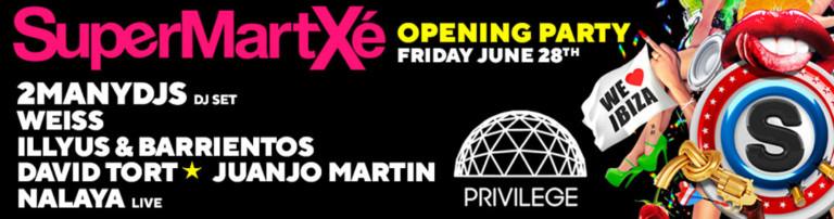 Opening of SuperMartXé in Privilege Ibiza