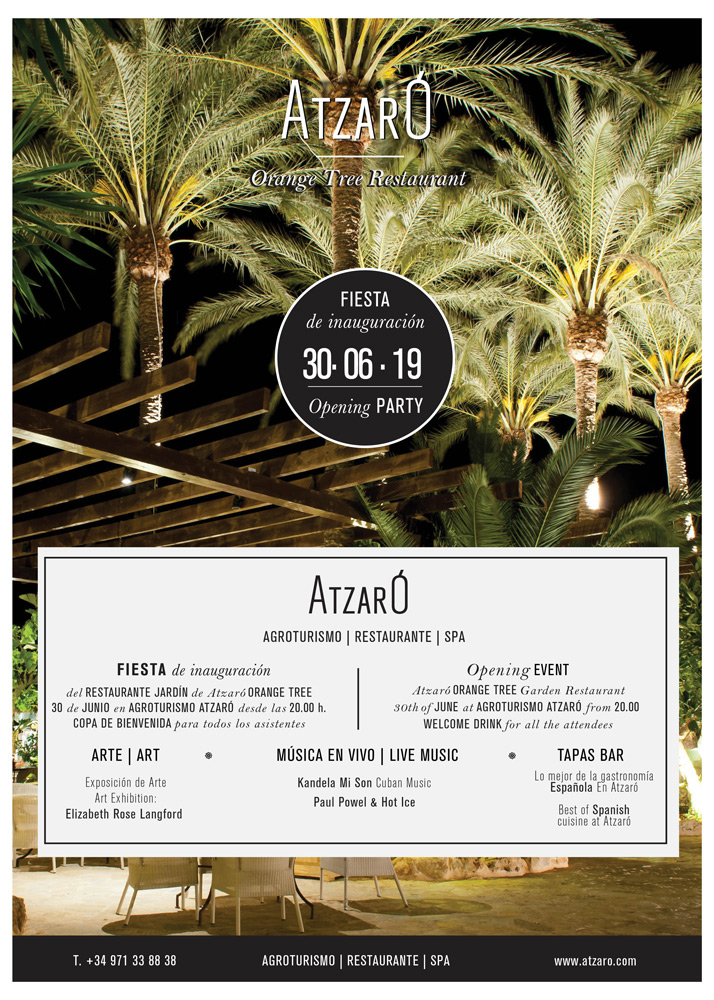 Ouverture du restaurant Orange Tree d'Atzaró Ibiza