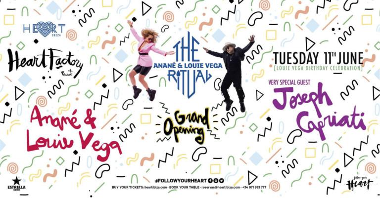 Apertura di The Ritual di Anané e Louie Vega a Heart Ibiza