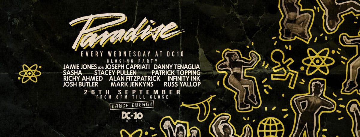 Закрытие Paradise на DC10 Ibiza