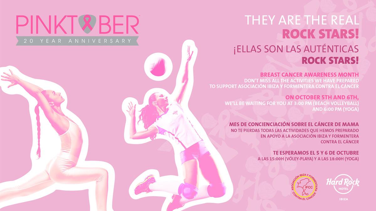 Pinktober: Zwei aufregende Sporttage im Hard Rock Hotel Ibiza