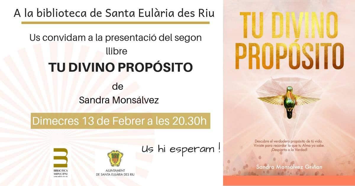 """Presentación de """"Tu Divino Propósito"""" en la Biblioteca de Santa Eulalia"""