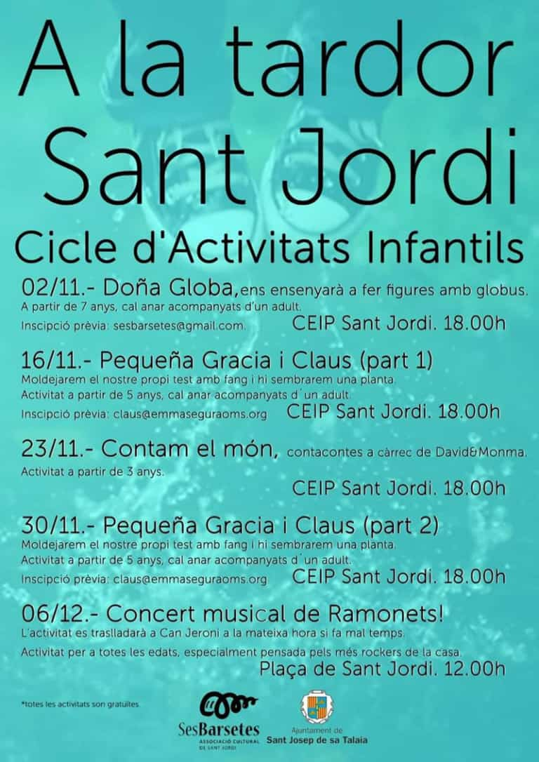 Family autumn in Sant Jordi: free activities