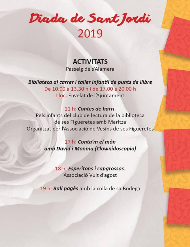 Actividades por el Día de Sant Jordi y Día del Libro en Ibiza