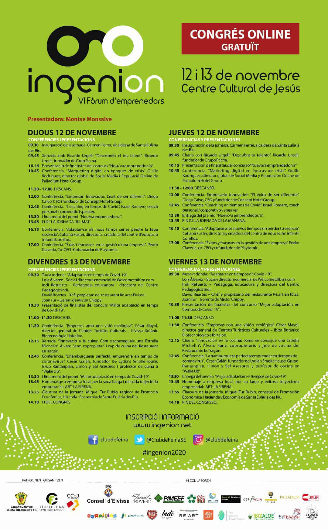programma-ingenion-ibiza-2020-vi-forum-ondernemers-welcometoibiza