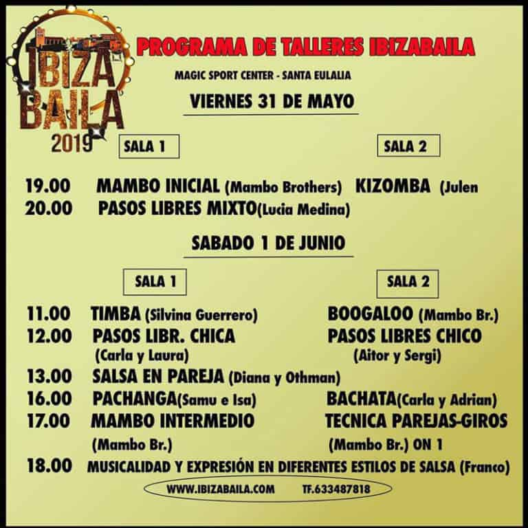 Ibiza Baila: drei Tage Tanzen und Aktivitäten