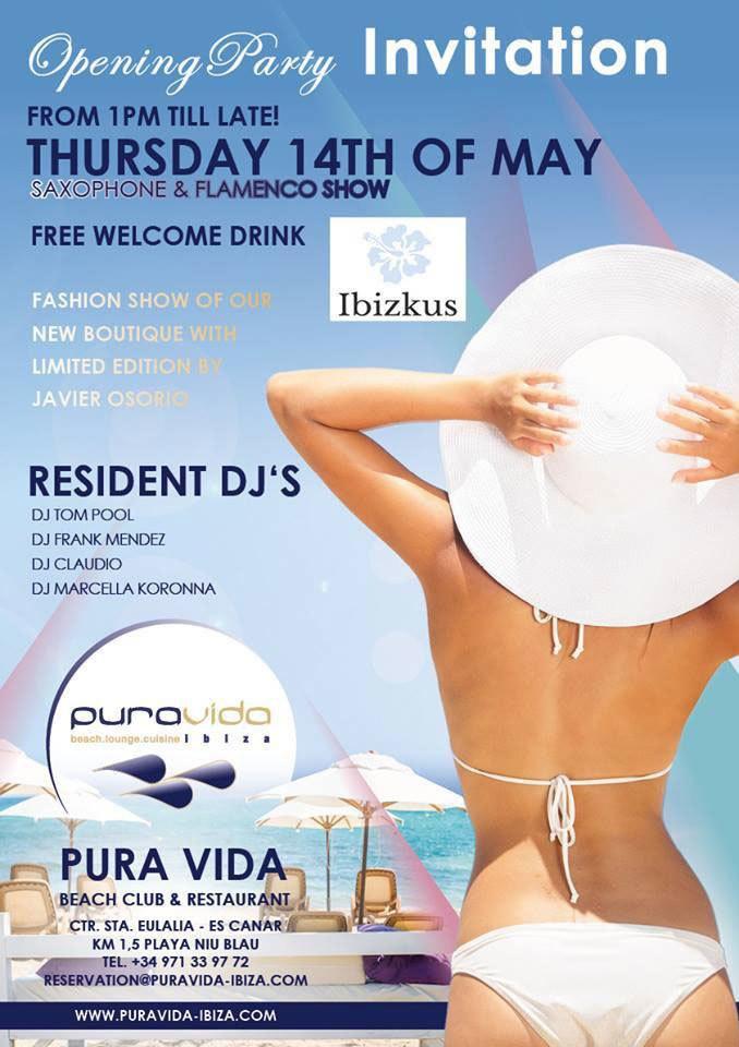 Pura Vida Opening Party aanstaande donderdag