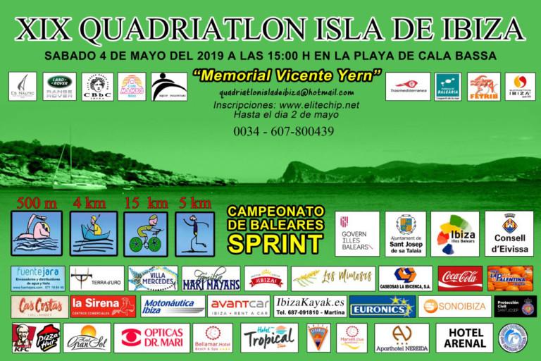 XIX Quadriatlón Isla de Ibiza en Cala Bassa