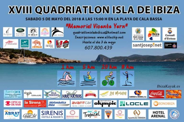 XVIII Quadriatlón Isla de Ibiza en Cala Bassa