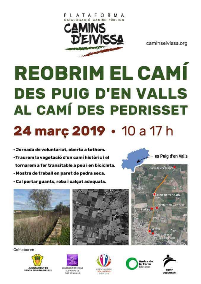 Jornada de limpieza y recuperación de un camino en Puig d'en Valls