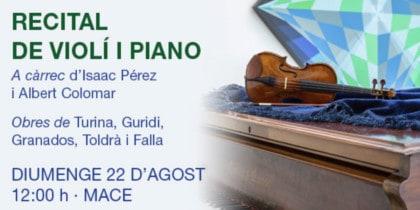 Recital de violín y piano en el MACE Música