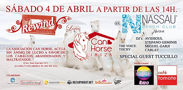 Rewind Loves Can Horse este sábado en Nassau Beach Club Ibiza