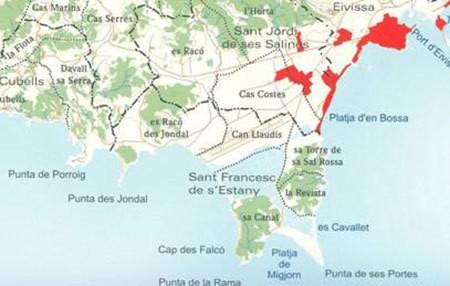 Route van Sant Francesc naar Es Codolar aanstaande zaterdag