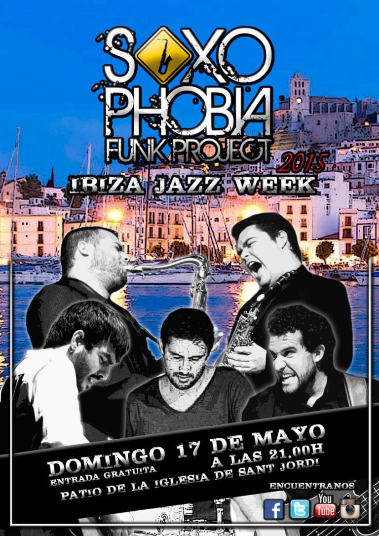 Saxophobia Funk Project questa domenica a Sant Jordi