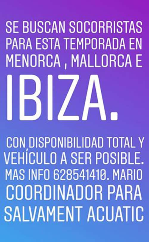 Travailler à Ibiza: les sauveteurs sont recherchés pour la saison