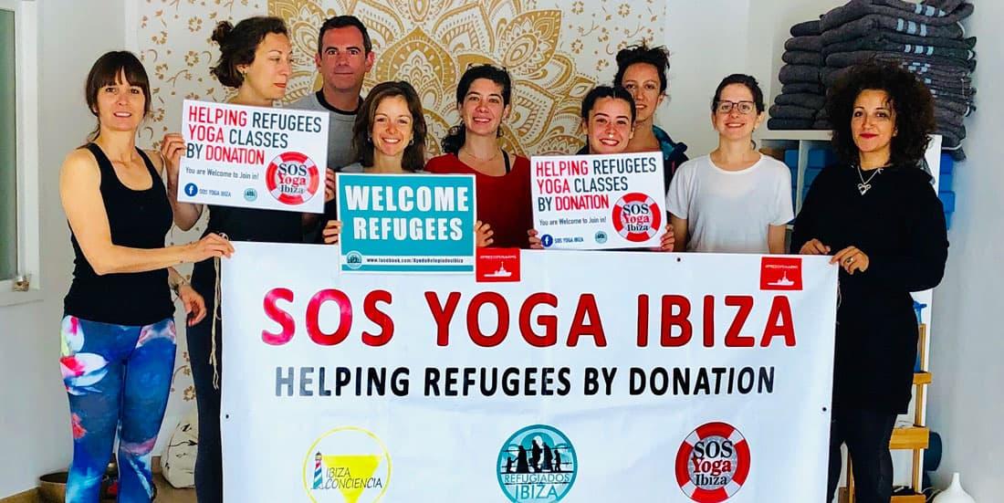 Solidaritäts Yoga Sessions jeden Sonntag in Santa Eulalia