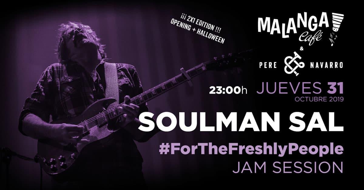 Soulman Sal bei der Eröffnung von #ForTheFreshlyPeople und Halloween in Malanga Ibiza