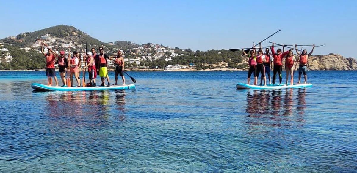 Practica Stand Up Paddle cada domingo gratis con Kayak Ibiza