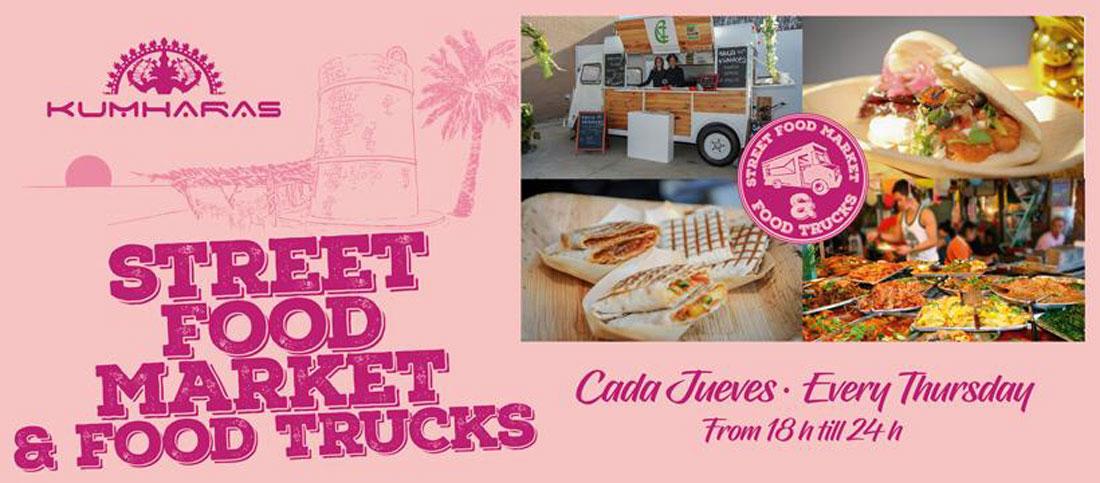 Street Food Market y Food Trucks cada jueves en Kumharas Ibiza